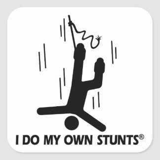 Bungee Jumping My Own Stunts Sticker