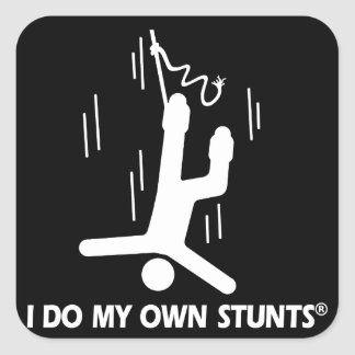Bungee Jumping My Own Stunts Square Sticker