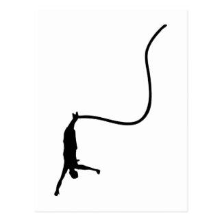Bungee jumping postcard