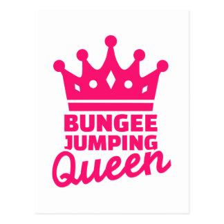 Bungee jumping queen postcard
