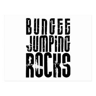 Bungee Jumping Rocks Postcard