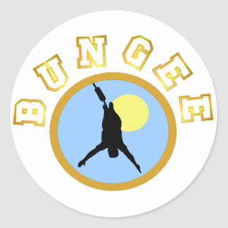 Bungee T-shirts and GIfts. Classic Round Sticker