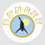 Bungee T-shirts and GIfts. Round Sticker
