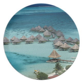 Bunglows of Beachcomber Hotel Party Plate