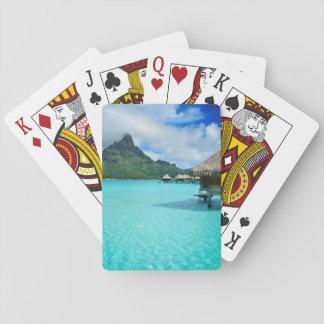 Bungows de Overwater en cubierta del póker de la Barajas De Cartas