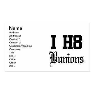 bunions business card template