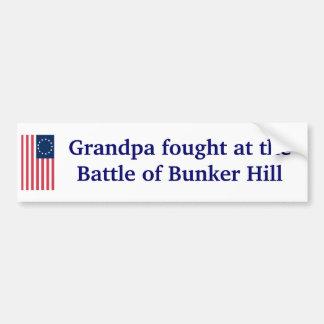 Bunker Hill. Bumper Sticker