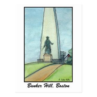 Bunker Hill Monument, Boston MA Postcard