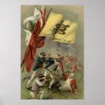 Bunker Hill revolucionario de la guerra de la band Póster