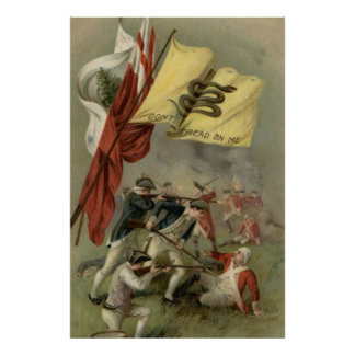 Bunker Hill revolucionario de la guerra de la Póster