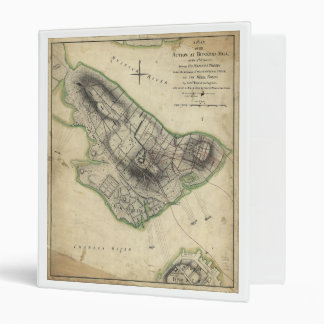 Bunker Hill Revolutionary War Map (June 17, 1775) 3 Ring Binder