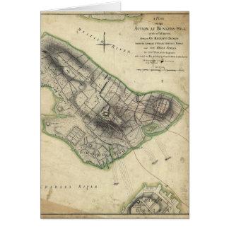 Bunker Hill Revolutionary War Map (June 17, 1775) Card