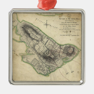 Bunker Hill Revolutionary War Map (June 17, 1775) Metal Ornament