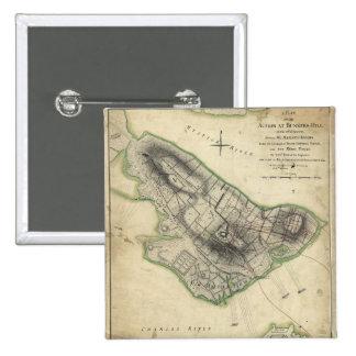 Bunker Hill Revolutionary War Map (June 17, 1775) Pinback Button