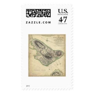 Bunker Hill War Map - 1775 Postage