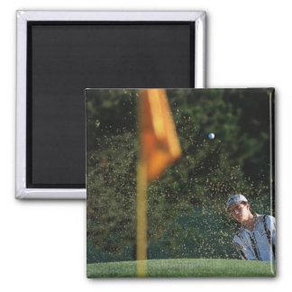 Bunker shot (Golf) 2 Inch Square Magnet