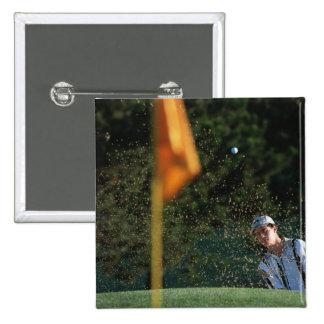 Bunker shot (Golf) Pinback Buttons