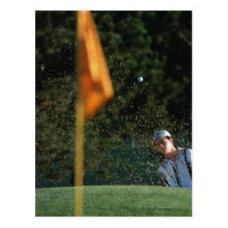 Bunker shot (Golf) Postcard