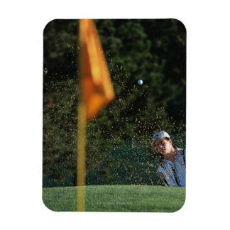 Bunker shot (Golf) Rectangular Photo Magnet