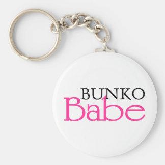 Bunko Babe Basic Round Button Keychain