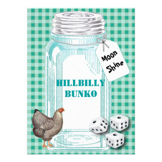 Bunko - Country Style or Hillbilly Style Custom Invite