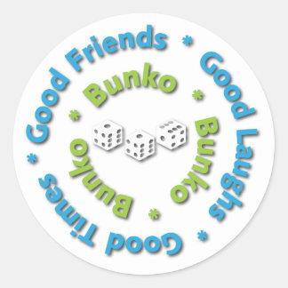 Bunko - Good Times, Good Friends, Good Laughs Classic Round Sticker