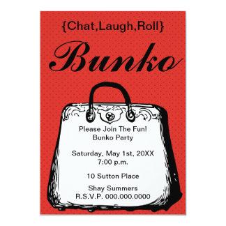 Bunko Night Purse Invitation