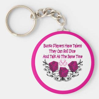 Bunko players have talent basic round button keychain