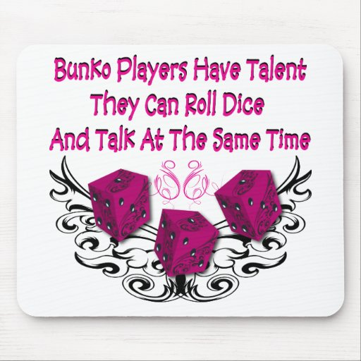 Bunko players have talent mousepads