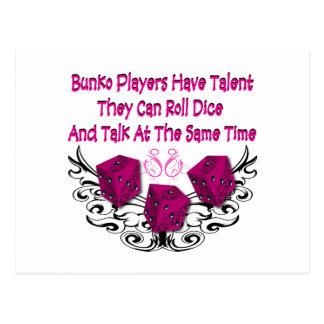 Bunko players have talent postcard