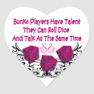 Bunko players have talent heart stickers