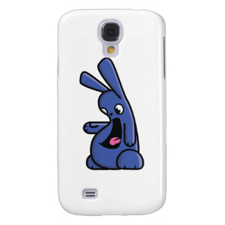 Bunneh! - blue - left samsung galaxy s4 cover