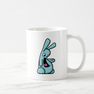 Bunneh! - cyan - right coffee mug