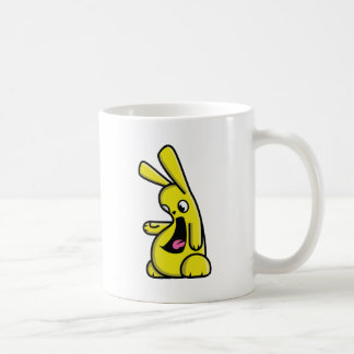 Bunneh! - yellow - left coffee mug