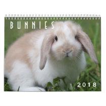 Bunnies 2018 - 12 Months of Cute Bunny Rabbits Calendar