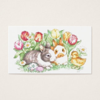 Bunnies and Chick Business Card