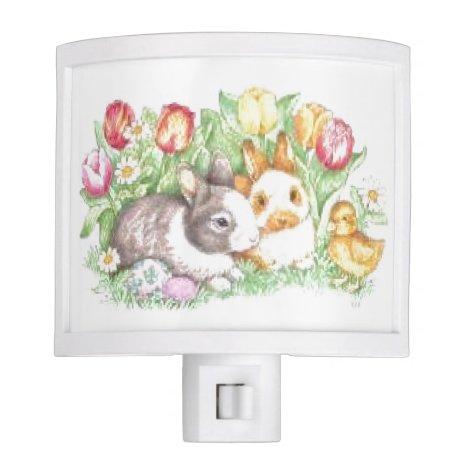 Bunnies and Chick Night Light