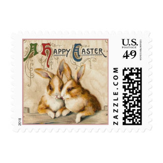 Bunnies and Chicks Postage Stamp