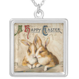 Bunnies and Chicks Silver Plated Necklace