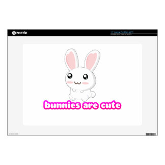 """Bunnies Are Cute - Rabbits Bunny Adorable 15"""" Laptop Decals"""