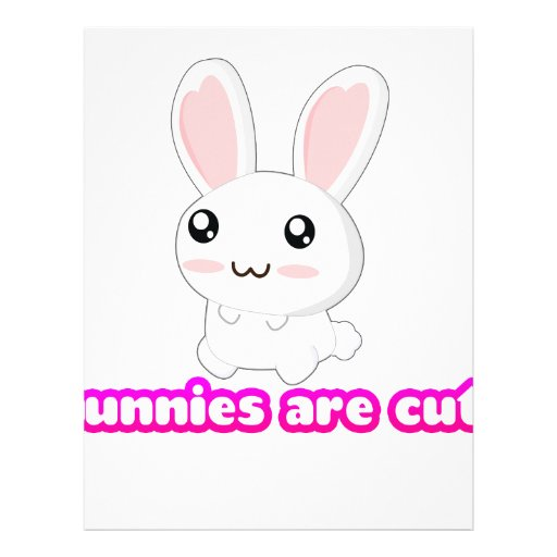 Bunnies Are Cute - Rabbits Bunny Adorable Letterhead