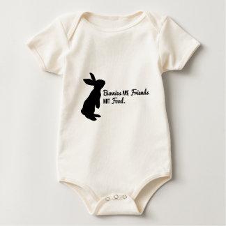 Bunnies are Friends, Not Food! Baby Bodysuit