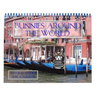 Bunnies Around The World 2011 Calendar