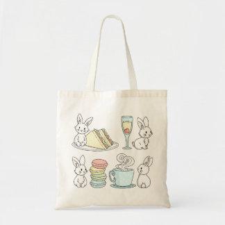 Bunnies at Afternoon Tea Tote Bag