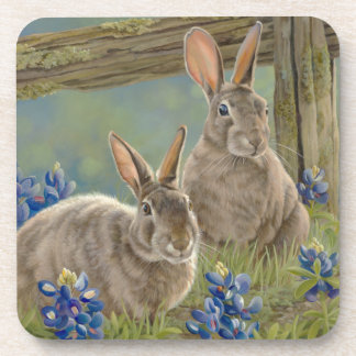 Bunnies & Bluebonnets Beverage Coaster