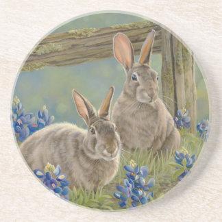 Bunnies & Bluebonnets Beverage Coaster