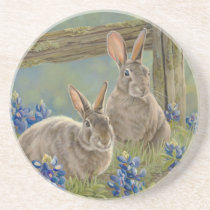 Bunnies & Bluebonnets Coaster