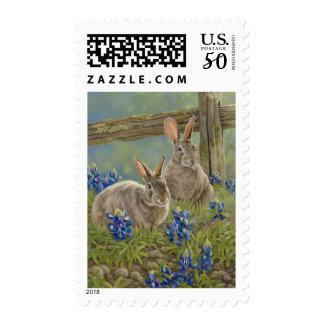 Bunnies & Bluebonnets Stamp