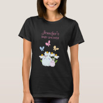 Bunnies, Butterflies & Daisies Baby Shower T-Shirt