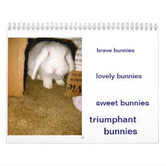 bunnies calendar